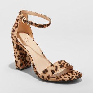 Ema high block heel leopard pump